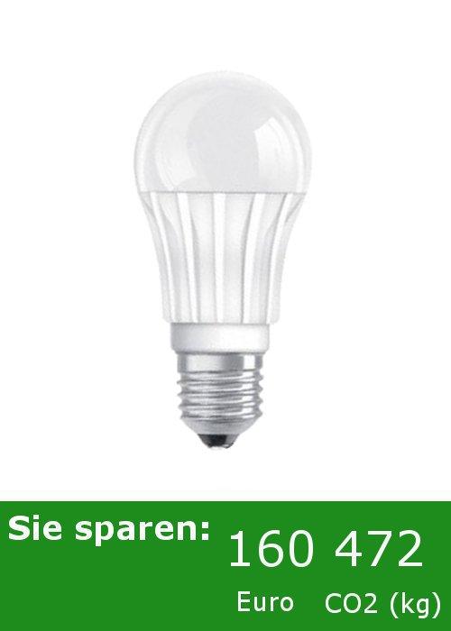 OSRAM LED Lampe - Birne - 8 Watt / 40 Watt Licht - E27